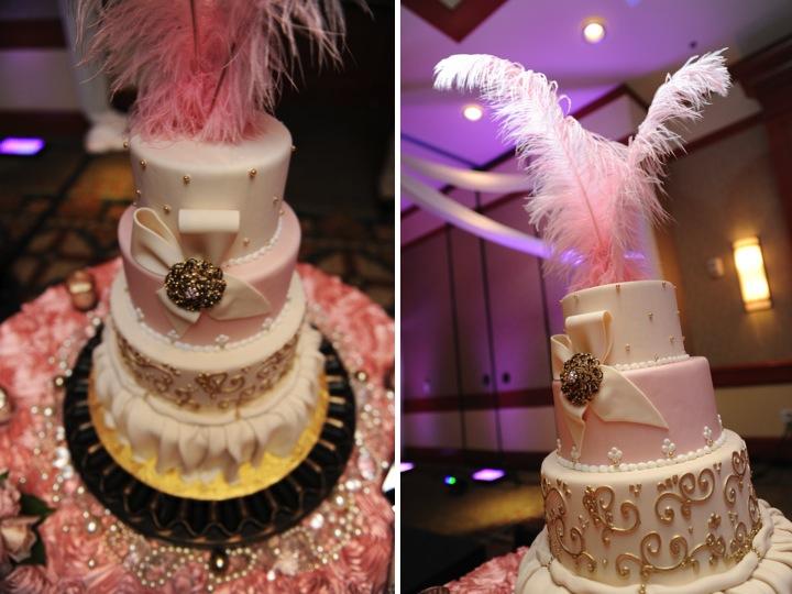 Elegant Pink and Gold Florida Wedding via TheELD.com