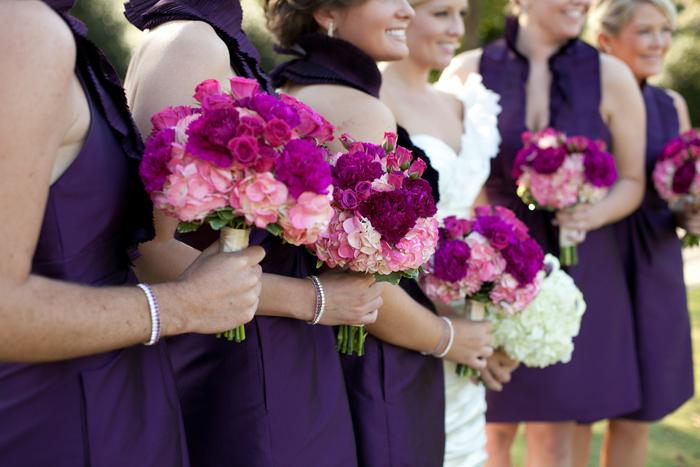 Purple and Pink Elegant North Carolina Wedding via TheELD.com