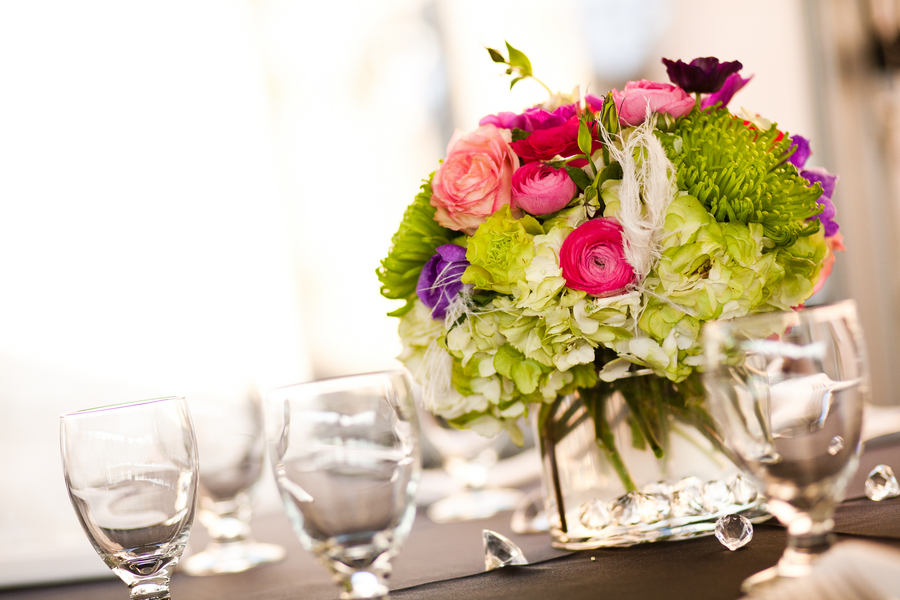 Pink & Purple Modern Elegant Wedding via TheELD.com
