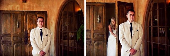 Blush Pink & Navy Vintage Chic Wedding via TheELD.com