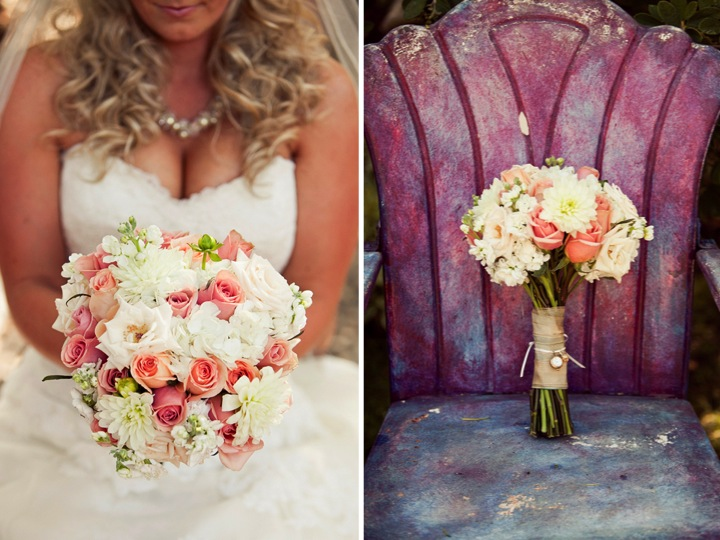 Blush Pink & Navy Vintage Chic Wedding