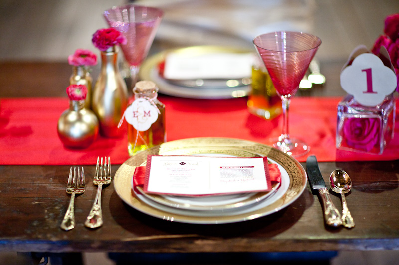 Modern Elegant Red, Pink & Gold Wedding Inspiration