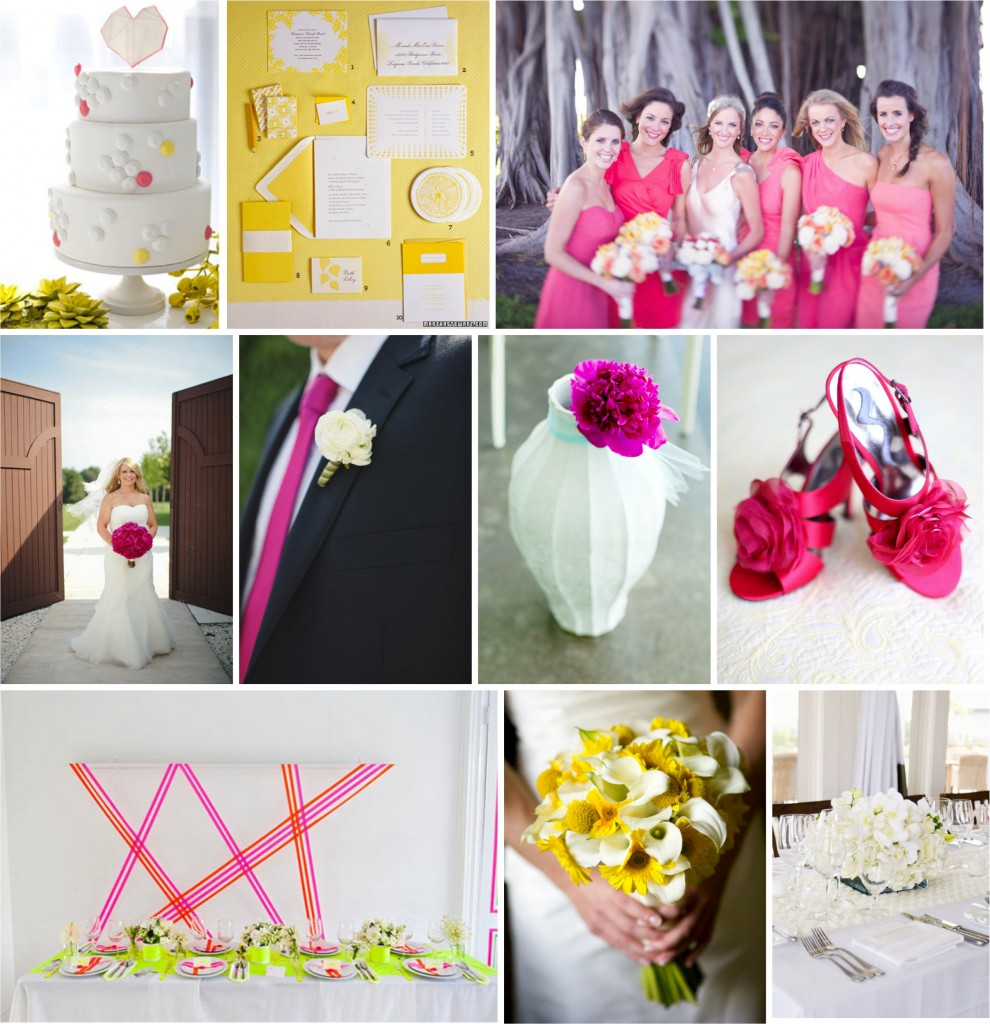 Inspiration Board: Hot Pink, Yellow and White