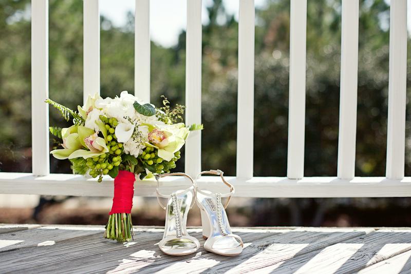 Modern Red & Aqua Outer Banks Wedding via TheELD.com