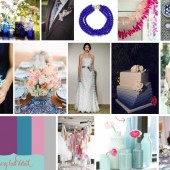 Blue, Plum, Teal and pink wedding inspiration