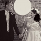 Modern black and white wedding 15