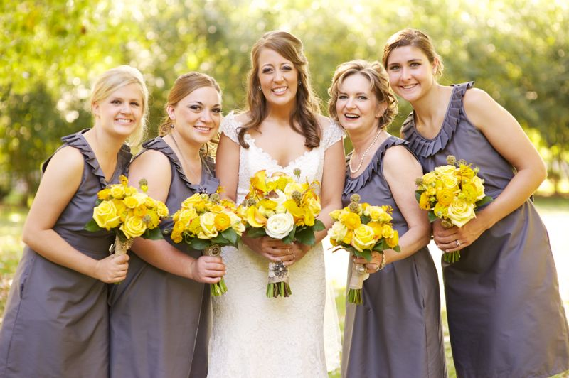 Rustic Chic Yellow Gray Wedding Via Theeld