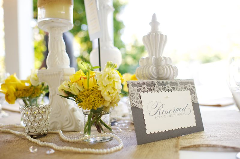 Rustic Chic Yellow & Gray Wedding via TheELD.com