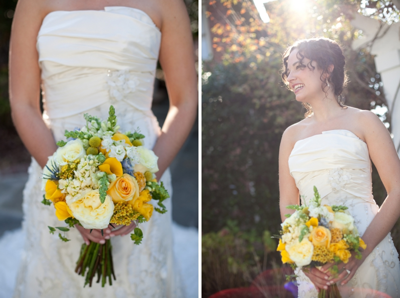 Yellow and Blue Alabama Garden Wedding