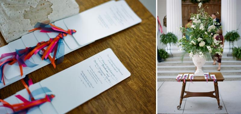 Pink, Orange & Navy Florida Wedding via TheELD.com