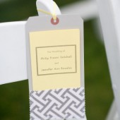 wedding program pocket