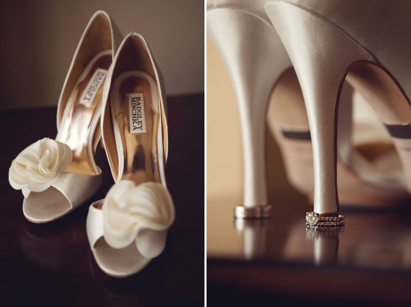 Elegant Black, White & Blush Wedding  via TheELD.com