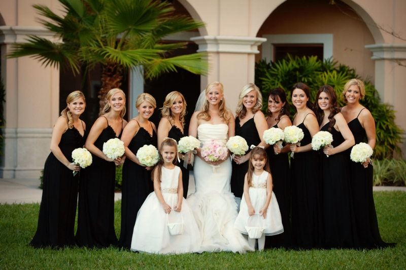 Elegant Black White Blush Wedding