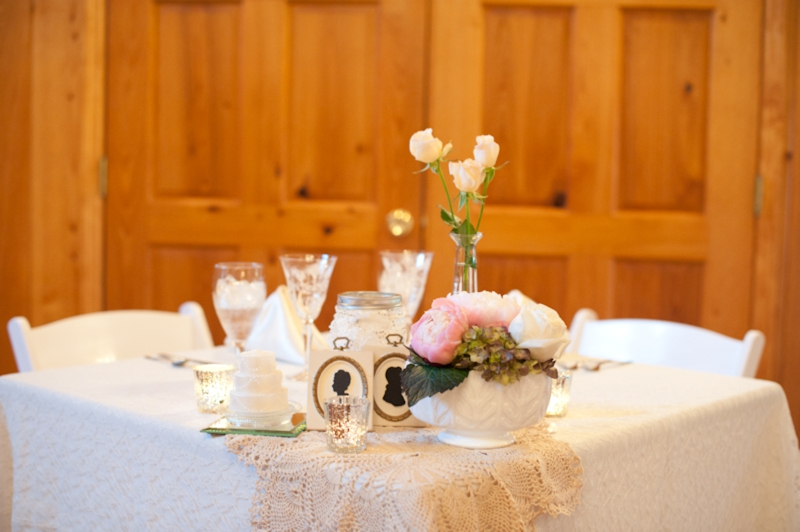 Vintage Elegant Pink, Purple & White Wedding via TheELD.com