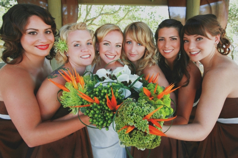 Modern Eclectic Orange & Green Wedding