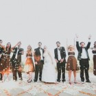 Modern Eclectic Orange and Green Wedding_024