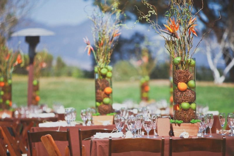 Modern Eclectic Orange & Green Wedding via TheELD.com
