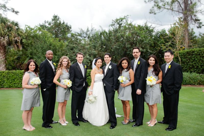 Modern Gray White And Yellow Wedding