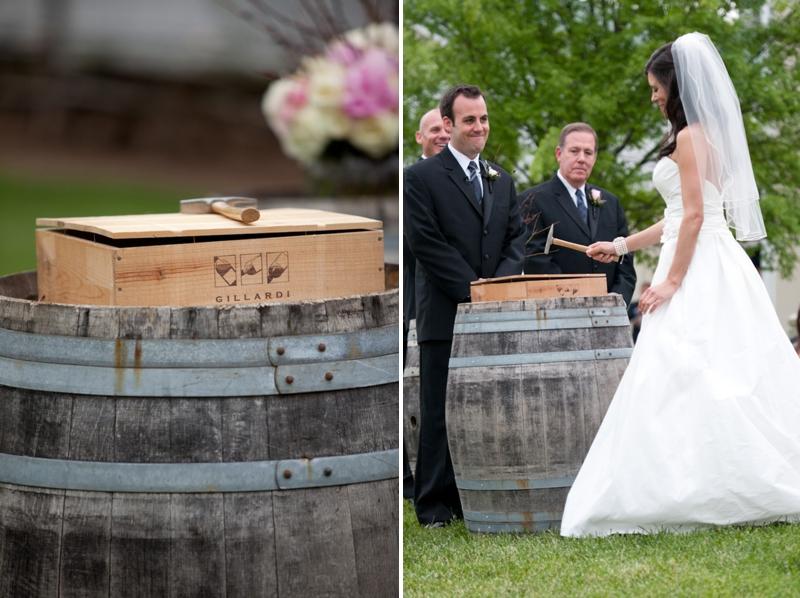 Navy & Pink Vintage Vineyard Wedding via TheELD.com