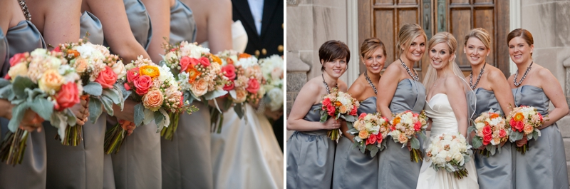 Orange & Gray Modern, Elegant Wedding via TheELD.com