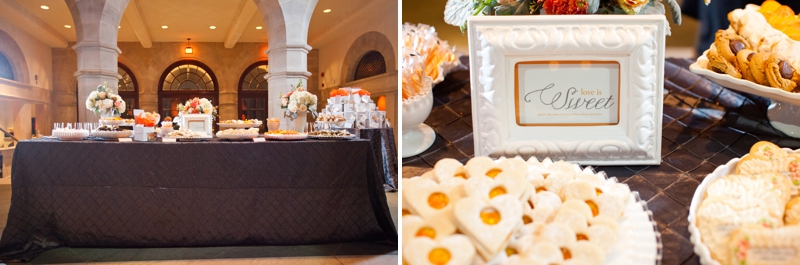 Orange & Gray Modern, Elegant Wedding