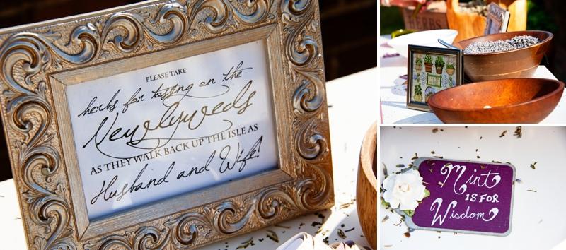 Purple, Green & Gray Plantation Wedding via TheELD.com