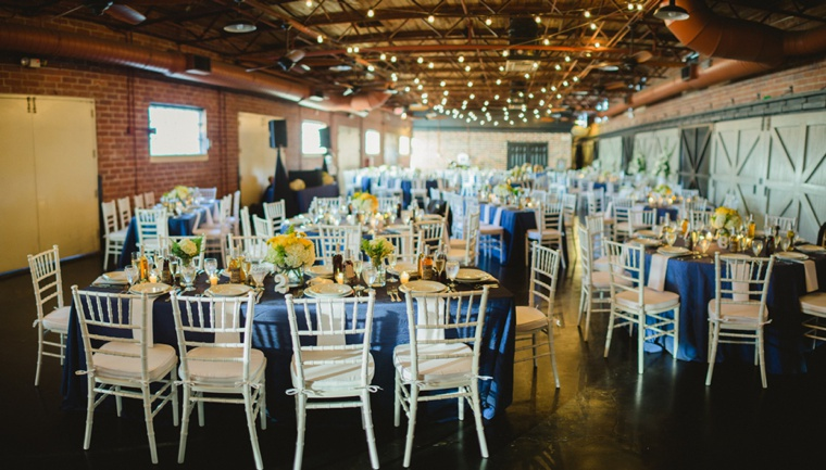 Rustic chic navy and yellow wedding every last detail for Cantigny le jardin