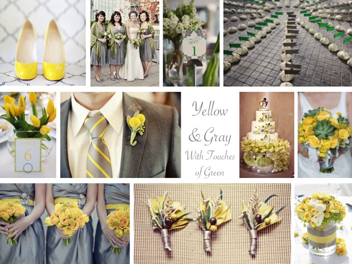 wedding ideas yellow and gray inspiration board yellow amp gray with green every last 28367