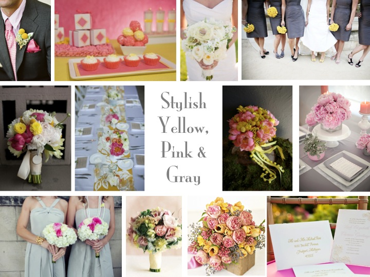 {Inspiration Board} Stylish Yellow, Pink, & Gray via TheELD.com