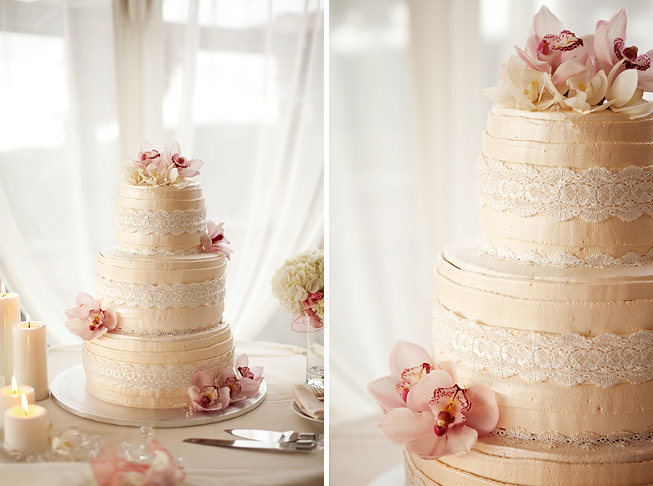 Candlelit Pink Wedding (and a fab cake!) via TheELD.com