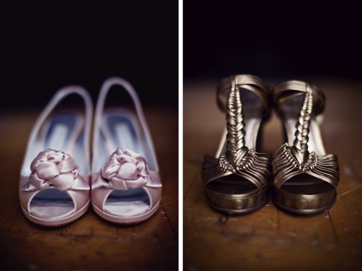 Classic Pink & Gray Wedding {Part 1} via TheELD.com