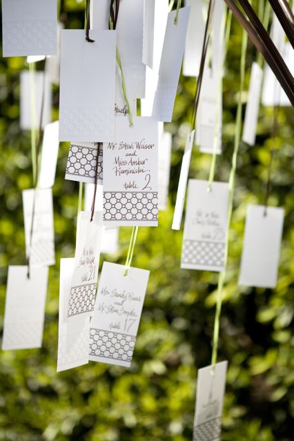 {Detail To Love} Escort Cards via TheELD.com