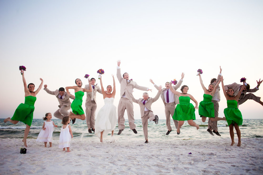 Purple Florida Beach Wedding Part 2