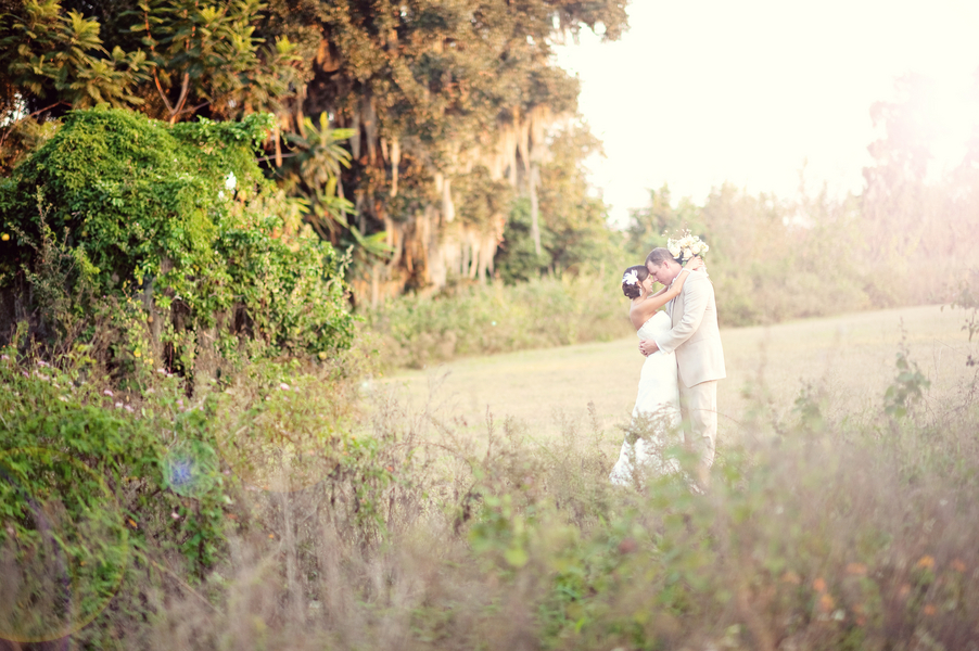 Rustic Backyard Florida Wedding via TheELD.com