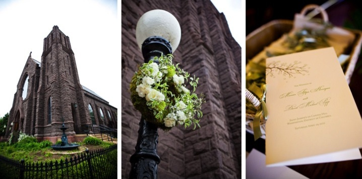 Elegant Green & White DC Wedding via TheELD.com