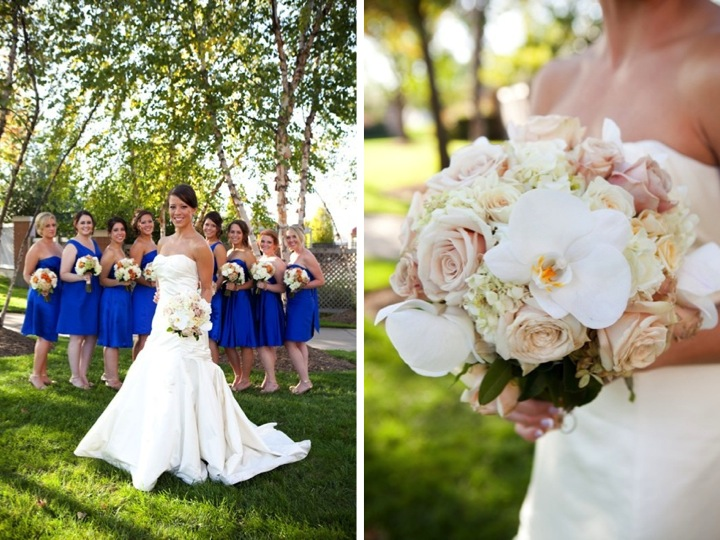 Gorgeous orange blue wedding every last detail gorgeous orange blue wedding junglespirit Images