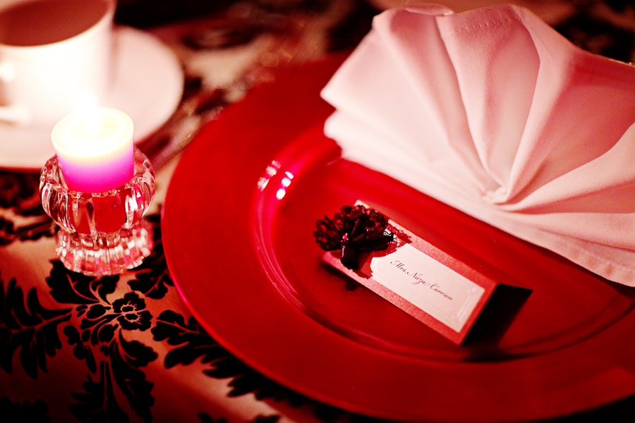 Elegant Black & Red Florida Wedding via TheELD.com