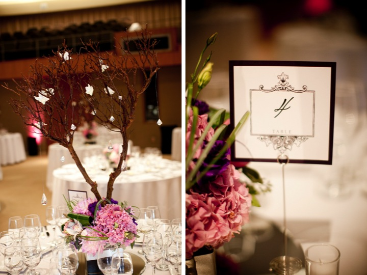 Modern Elegant Purple Wedding {Part 2} via TheELD.com