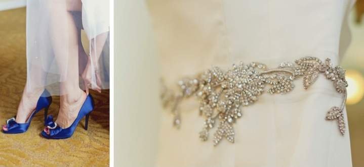 Elegant Pink & Navy Wedding {Part 1}  via TheELD.com
