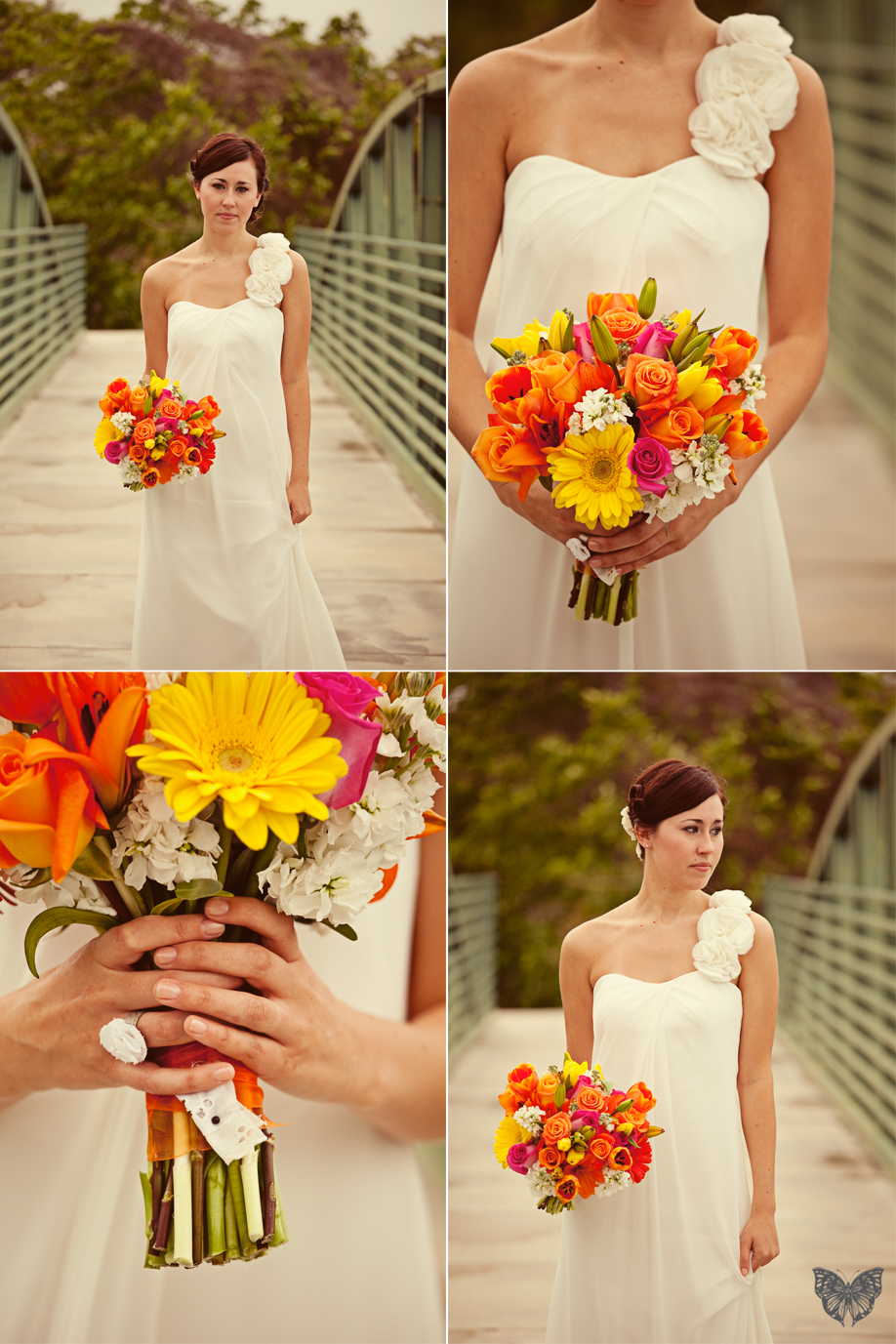 Vintage Orange & Teal Wedding {Part 1}  via TheELD.com