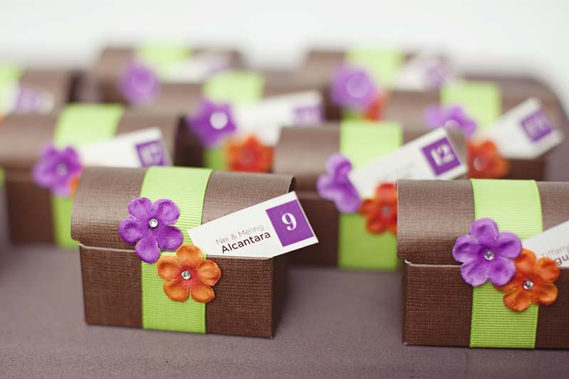Eclectic Purple Orange Green Wedding Via TheELD
