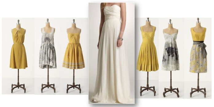 Yellow And Gray Bridesmaid Dresses 27