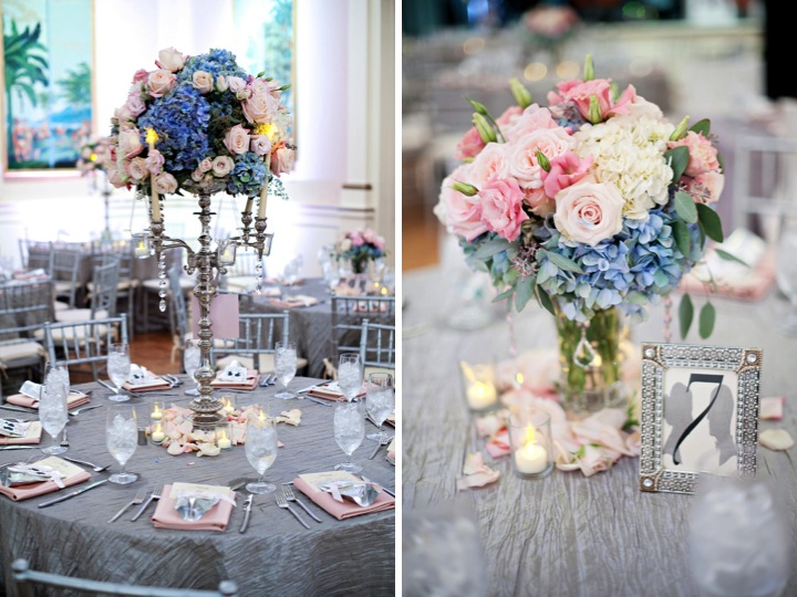 Elegant Pink & Blue Wedding {Part 2} via TheELD.com