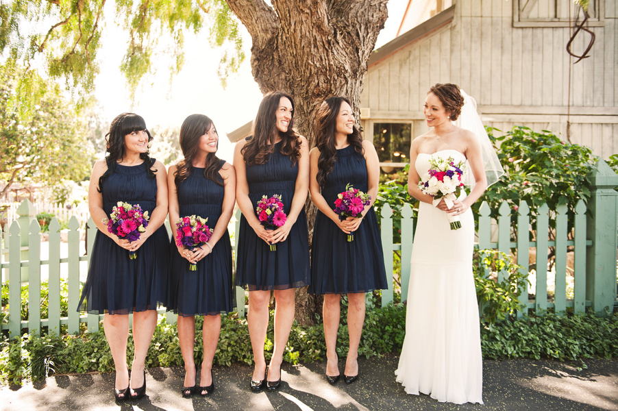 Pink & Navy Garden Wedding {Part 1} via TheELD.com