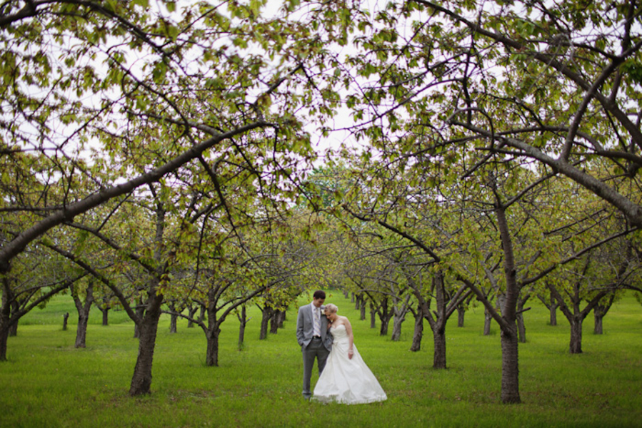 Yellow Michigan Lakeside Wedding via TheELD.com