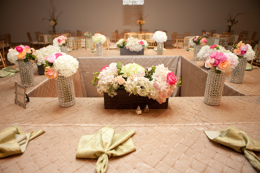 Elegant Pink Florida Wedding via TheELD.com