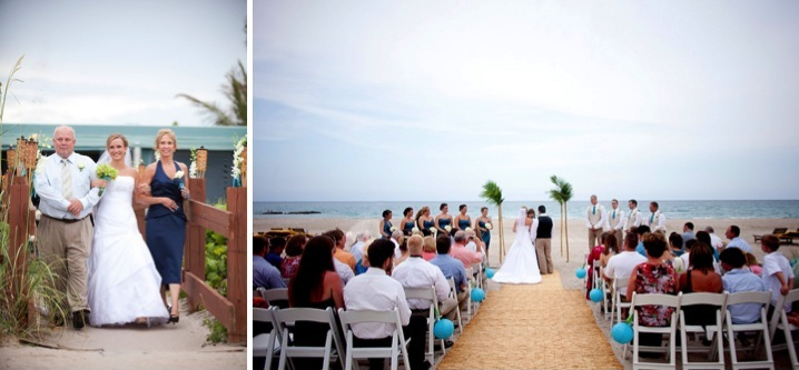 Aqua and Green Florida Beach Wedding via TheELD.com