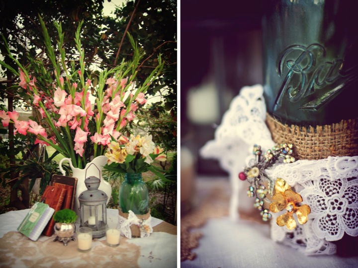 Vintage Eclectic Wedding By Basia Mille Photography via TheELD.com