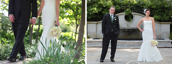 Modern Navy, Pink, and Green Ohio Wedding via TheELD.com