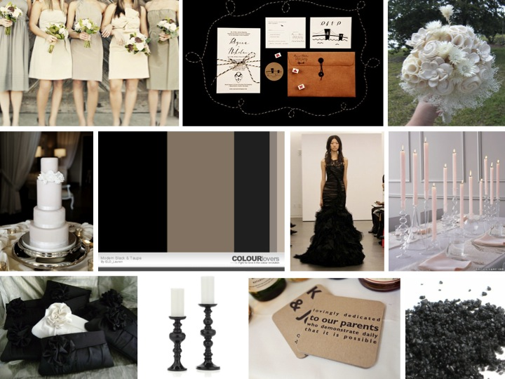 Inspiration board modern chic black and taupe every for What does taupe mean